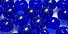 #08.00 25 Stück Perlen rund - sapphire hem. coating - Ø 6 mm