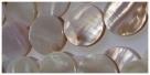 1 Perlmuttscheibe rund - Ø ca. 23 mm, weiß