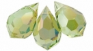 1 facetierter Tropfen 6x10 mm Chrysolite Celsian