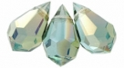 1 facetierter Tropfen 6x10 mm Aquamarine Celsian