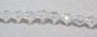 1 facetierter Tropfen 5x7 mm Crystal AB-galvanisiert