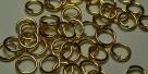 20 Stück Biegeringe 5x0,70mm dick - goldfarben