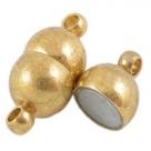 1 Magnet-Verschluss Ø 7x15 mm  goldfarben