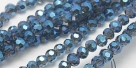 90 facetierte runde Perlen Ø 3mm Blue-galvanisiert