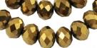1 Strang facetierte Rondelle 4*6mm gold-galvanisiert