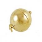 1 Kugel-Magnet-Verschluss Ø 10x14,5 mm  goldfarben
