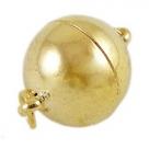 1 Kugel-Magnet-Verschluss Ø 12x16,5 mm  goldfarben