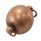 1 Kugel-Magnet-Verschluss Ø 12x16,5 mm  kupferfarben