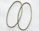 5 Stück ovale Metallringe 25x10 mm antik-bronzefarben