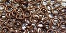 20 Stück Biegeringe 5x1,0mm dick - antikkupferfarben