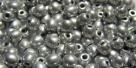 #12b 50 Stück Perlen rund - aluminium - Ø 4 mm