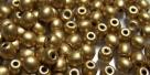 #12a 50 Stück Perlen rund - aztec gold - Ø 4 mm