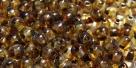 #16a 50 Stück Perlen rund - tr. Picasso Dark Travertin - Ø 4 m