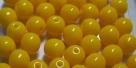 #14.00 25 Stück Perlen rund - opak maisgelb - Ø 6 mm