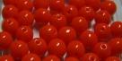 #17.00 25 Stück Perlen rund - opak orange - Ø 6 mm