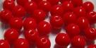 #19.00 25 Stück Perlen rund - opak rot - Ø 6 mm