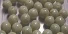#21.00 25 Stück Perlen rund - opak white olivine coating - Ø 6 m