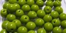 #23.00 25 Stück Perlen rund - opak olivine - Ø 6 mm