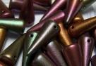 #21 - 10 Stck. Spike-Bead 7x17mm - opak jet purple iris matt