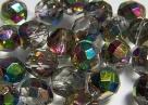 #03.0 25 Stück - 8,0 mm Glasschliffperlen - chrystal vitrail