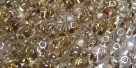 #90 10g Preciosa® TwinBeads lt topaz goldluster