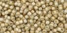 10 g TOHO Seed Beads 11/0 TR-11-0369 - Inside-Color Crystal/Beige Lined (E)