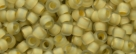 10 g TOHO Seed Beads 11/0 TR-11-0369 M - Inside-Color Matte Crystal/Beige Lined (E)