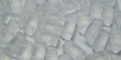 #01.01 - 20 Stück Two-Hole Brick 4x8mm - crystal matt