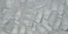 #01.01 - 20 Stück Two-Hole Brick 4x8mm - crystal matt