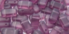 #05.01 - 20 Stück Two-Hole Brick 4x8mm - amethyst matt