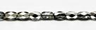 #03 - 30 Stück - 6*4mm Glasschliffperlen - crystal half labrador
