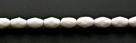 #02 - 30 Stück - 6*4mm Glasschliffperlen - opak white