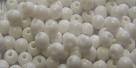 #17d 50 Stück Perlen rund - chalk-white opak - Ø 4 mm