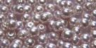 #28a 50 Stück Perlen rund - Opalin white Rosé Wachs - Ø 4 mm