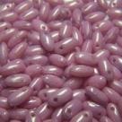 #02.05 10g Rizo-Beads opak chalk white pink luster
