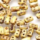 #12 10g Rulla-Beads opak chalk white dark travertin
