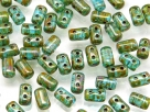 #29 10g Rulla-Beads opak green turquoise dark travertin
