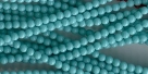 #44a 1 Strang - 4,0 mm Glasperlen - turquoise paint coating