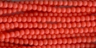 #28a - 1 Strang - 3,0 mm Glasperlen - coral/paint coating