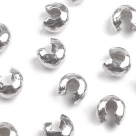 10 Stück Klappkugel ø 3 mm - silber - glatt