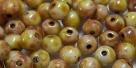 #59 50 Stück Perlen rund - opak chalk white dk travertin - Ø 4 m