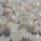 #24 - 25 Stck. Piggy-Beads 4x8mm - chalk white AB