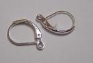 1 Paar Ohrbrisuren - 15 mm - silber