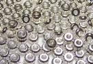 10 Stck. Metallscheiben - Ø ca. 4*1,9 mm - silber