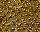 50 Stck. Metallperlen - Ø ca. 4mm - goldfarben