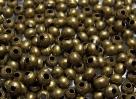 50 Stck. Metallperlen - Ø ca. 3mm - antik bronze