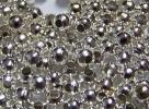 50 Stck. Metallperlen - Ø ca. 4mm - silber