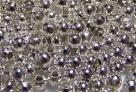 50 Stck. Metallperlen - Ø ca. 3mm - silber