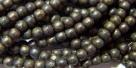#39 - 50 Stück Perlen rund - jet - copper picasso - Ø 3 mm