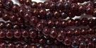 #40 - 50 Stück Perlen rund - luster/met. amethyst - Ø 3 mm